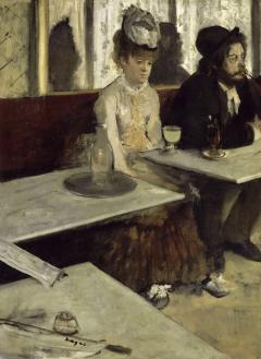 L'absinthe or In a Café