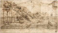 Linear perspective study for The Adoration of the Magi
