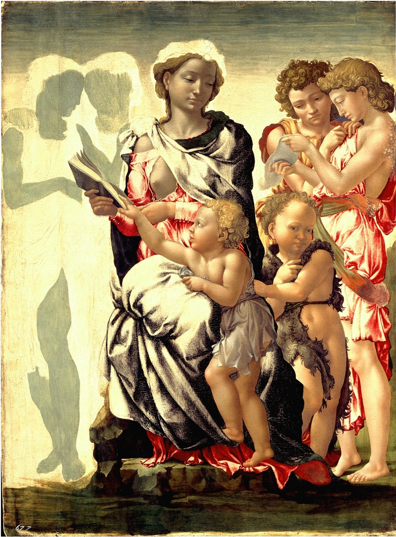 The Virgin and Child with Saint John and Angels (The Manchester Madonna)