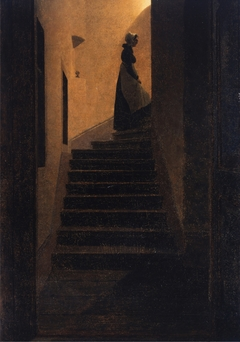 Woman on the stairs