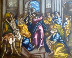 Christ chasing the merchants from the Temple