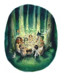 Gathering in the enchanted forest
