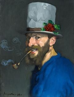 Autoportrait à la pipe