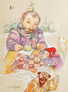 Maestro tagliatore delle mele / The master cutter of apples