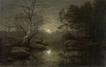 Forest Landscape in the Moonlight