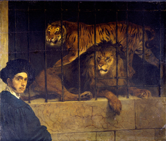 Self-portrait with Tiger and Lion
