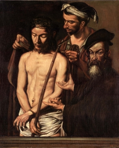 """Copy from """"Ecce Homo"""" by Caravaggio"""