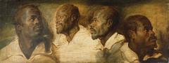 Four Studies of a Male Head