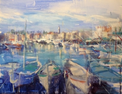 Morning of the small harbor