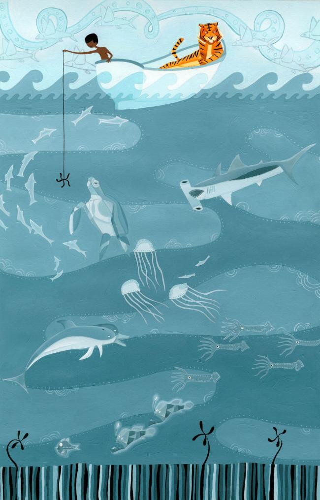 Life of pi fishing erik krenz artwork on useum for Life of pi explained