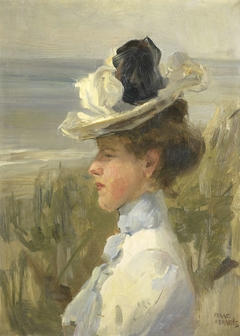 A Young Woman looking out over the Sea