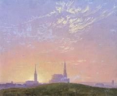 Evening (Sunset behind Dresden's Hofkirche)