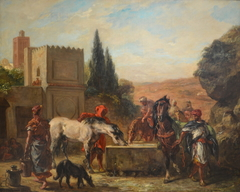 Horses at a Fountain