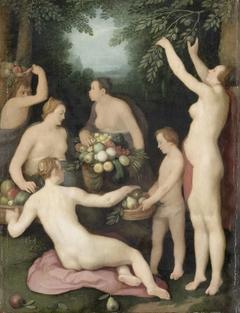 Pomona Receiving the Harvest of Fruit