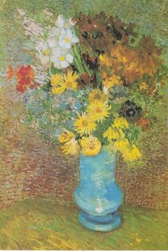 Vase mit Margeriten und Anemonen