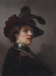 Portrait of a man in a plumed hat