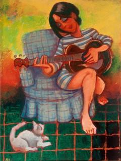 serenading the cat